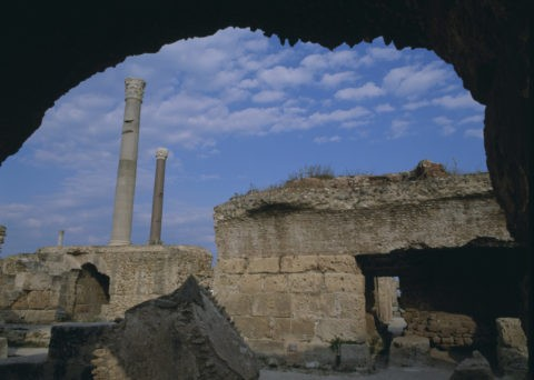 チュニス カルタゴの大浴場跡 チュニジア