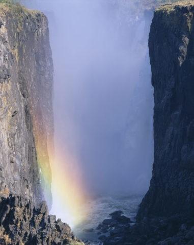 ビクトリアフォールと虹