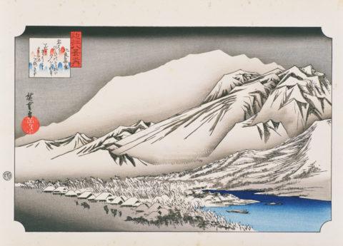 近江八景 比良暮雪