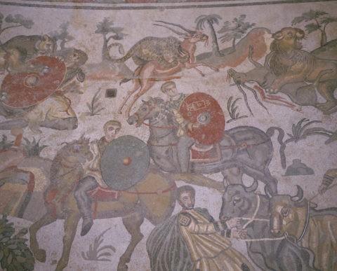 ピアッツアアルメリーナ ローマ時代のモザイク