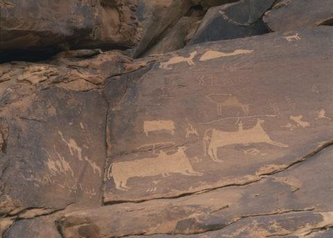 ジュッバの岩絵 狩猟