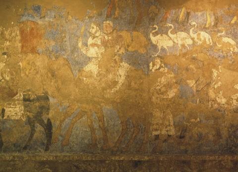 考古学博物館7世紀頃の壁画W.H.