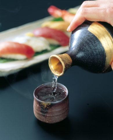 日本酒と寿司