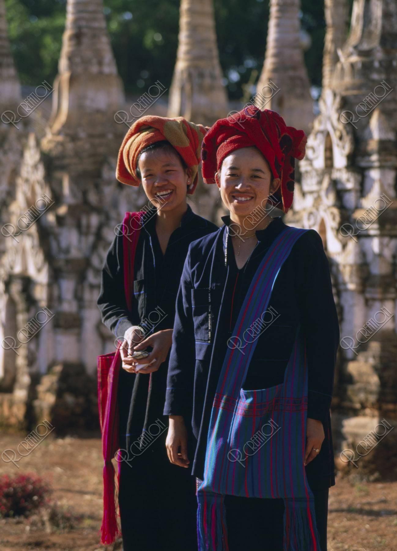 カッグ遺跡 パオ族の女性