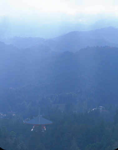 高野山 大塔と山並 W
