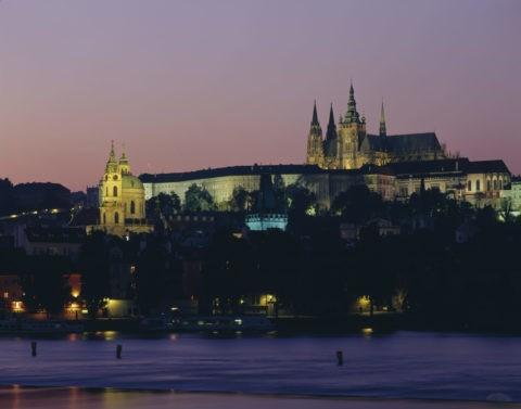 プラハ城 夕景 W