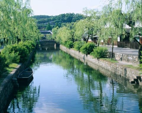 倉敷川と街並み