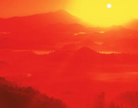 阿騎野の日の出