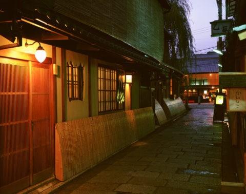 祇園白川付近の夕景