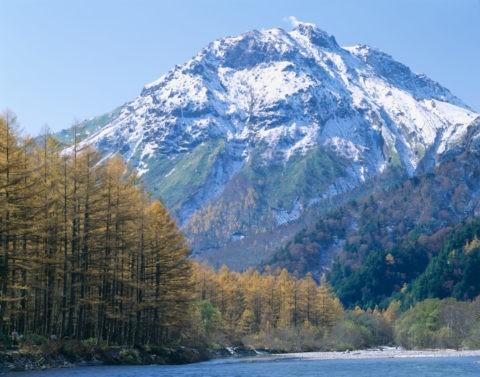 梓川と焼岳