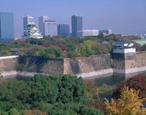 大阪城とツインタワー