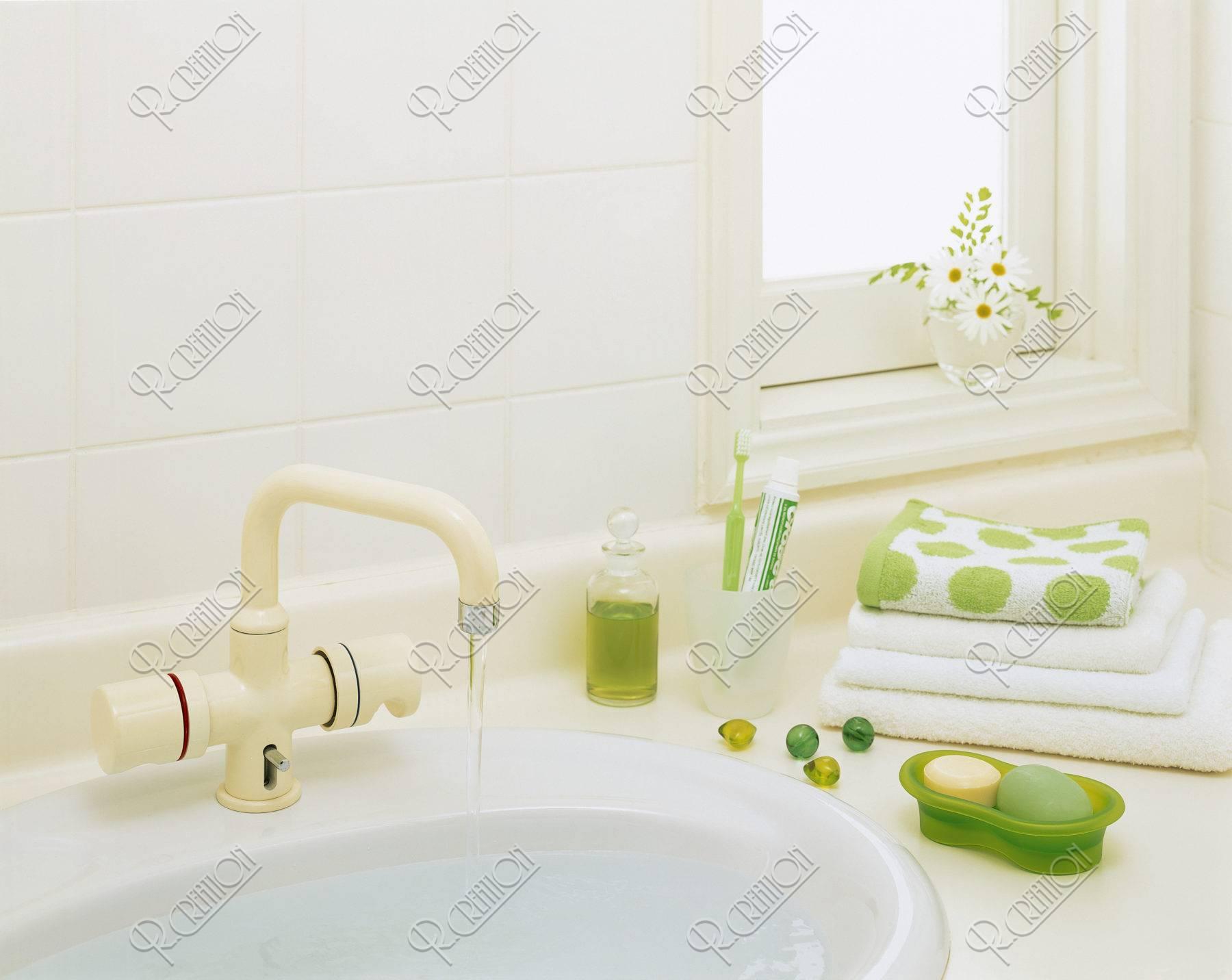 洗面台とタオル