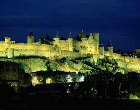 カルカソンヌ城塞の夕景 W