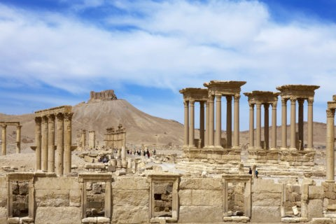 パルミラ遺跡 世界遺産 列柱通り
