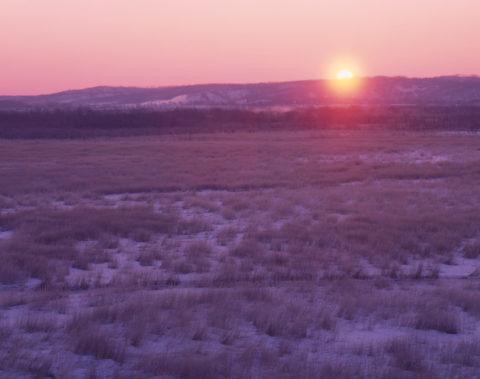コッタロ湿原の日の出