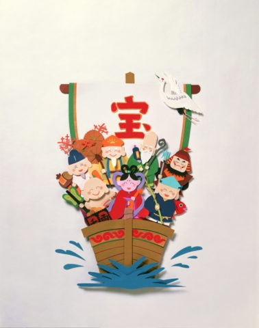七福神と宝船 クラフト