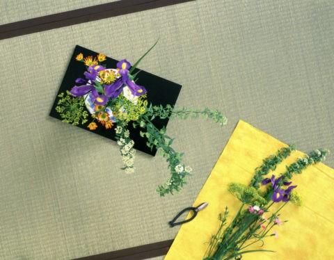 上から見た生け花