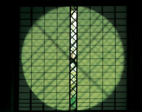 祇王寺丸窓