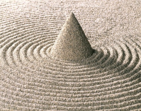 砂の輪と円錐