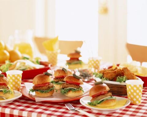 ランチパーティー ハンバーガー