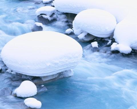 美瑛川の積雪