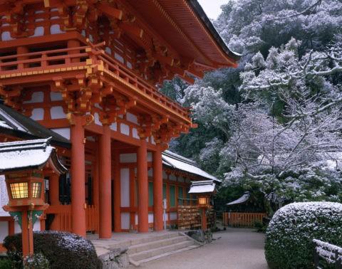 雪の上賀茂神社 W.H.