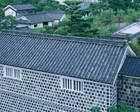 美観地区の屋根