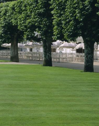 並木とレストラン シュノンソー城 フランス