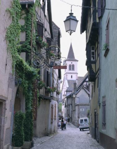 アルザス地方 リュクイエールの町並 フランス