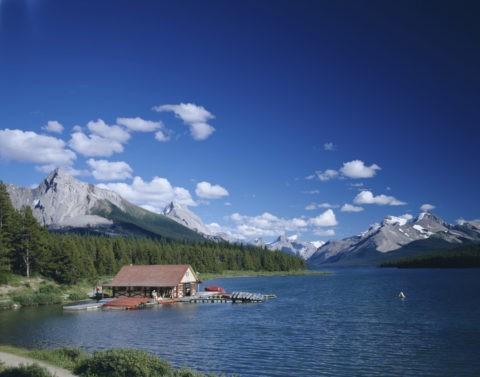 マリンレイクのボート小屋 ジャスパーN.P カナダ
