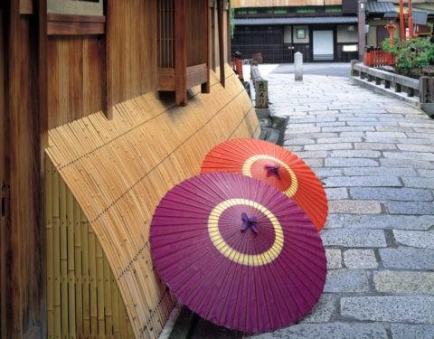 犬矢来と蛇の目 京都祇園白川付近