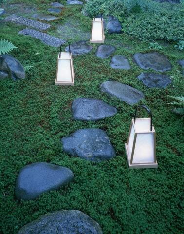 とび石と行燈