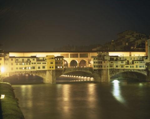 ヴェッキオ橋 夜景