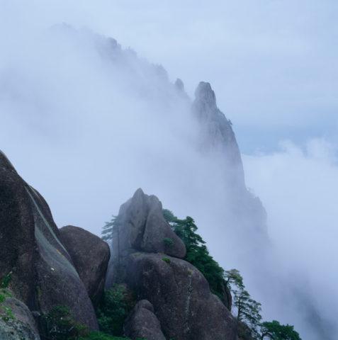 雲海の黄山 中国
