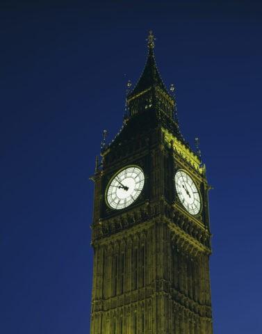 時計塔の夜景