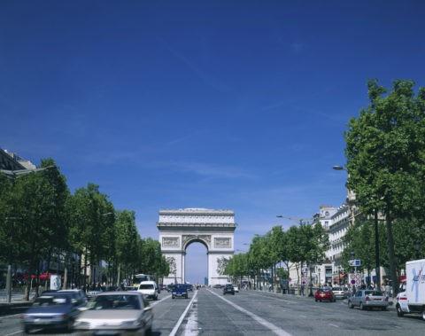 凱旋門とシャンゼリゼ大通り