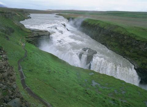 グルフォスの大滝 アイスランド