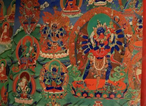 歓喜仏壁画 チェムレ僧院 ラダック インド