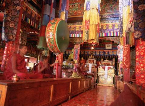 修業僧達 フィヤング僧院 ラダック インド