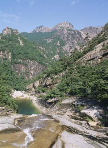 金剛山渓谷 金剛 北朝鮮
