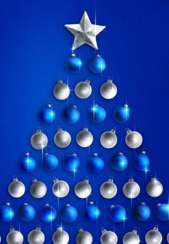 ブルーイメージのクリスマスツリー