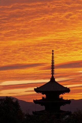 八坂の塔 夕照