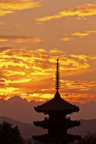 八坂の塔 夕焼け