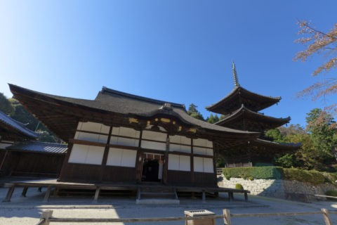 三井寺 三重塔と潅頂堂
