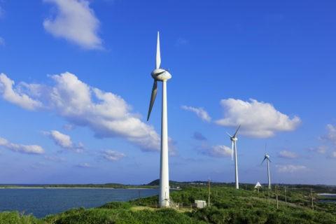 西平安名崎の風力発電