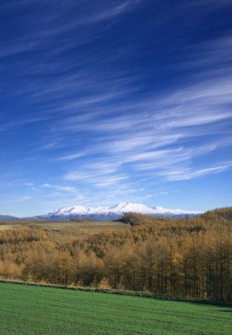 筋雲のかかる大雪山
