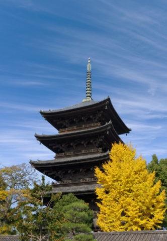 筋雲と東寺