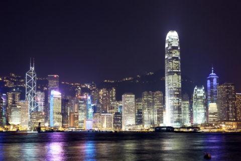 香港 ビクトリア湾夜景