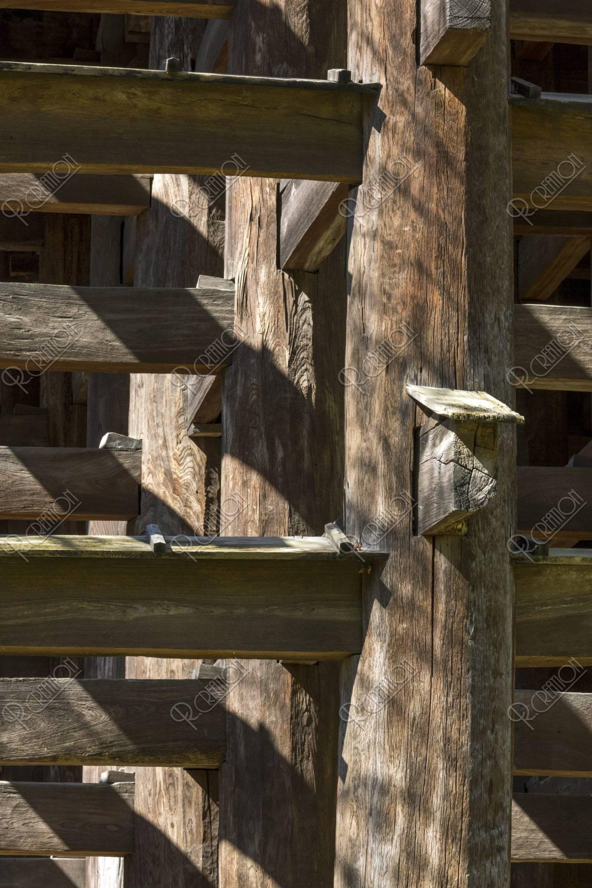 清水寺 舞台の柱