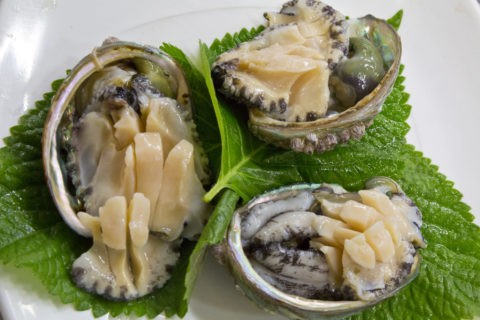 海鮮料理 アワビ
